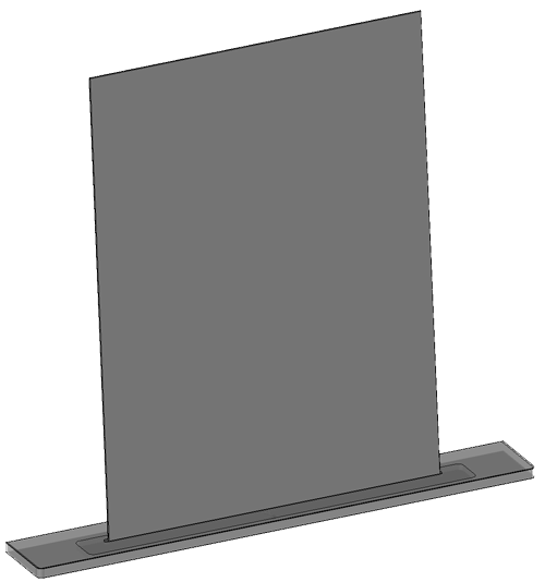 Mirror with shelf (shelf 900x120)