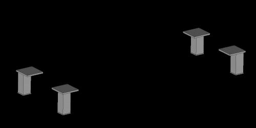 Möbelbeine Set H-120mm