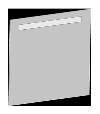 Spiegel mit Leuchtstofflampe 21W im weißen Rahmen