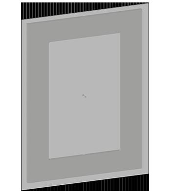 Spiegel ohne Beleuchtung