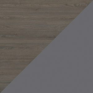 Oak Denver / Dark Grey glass