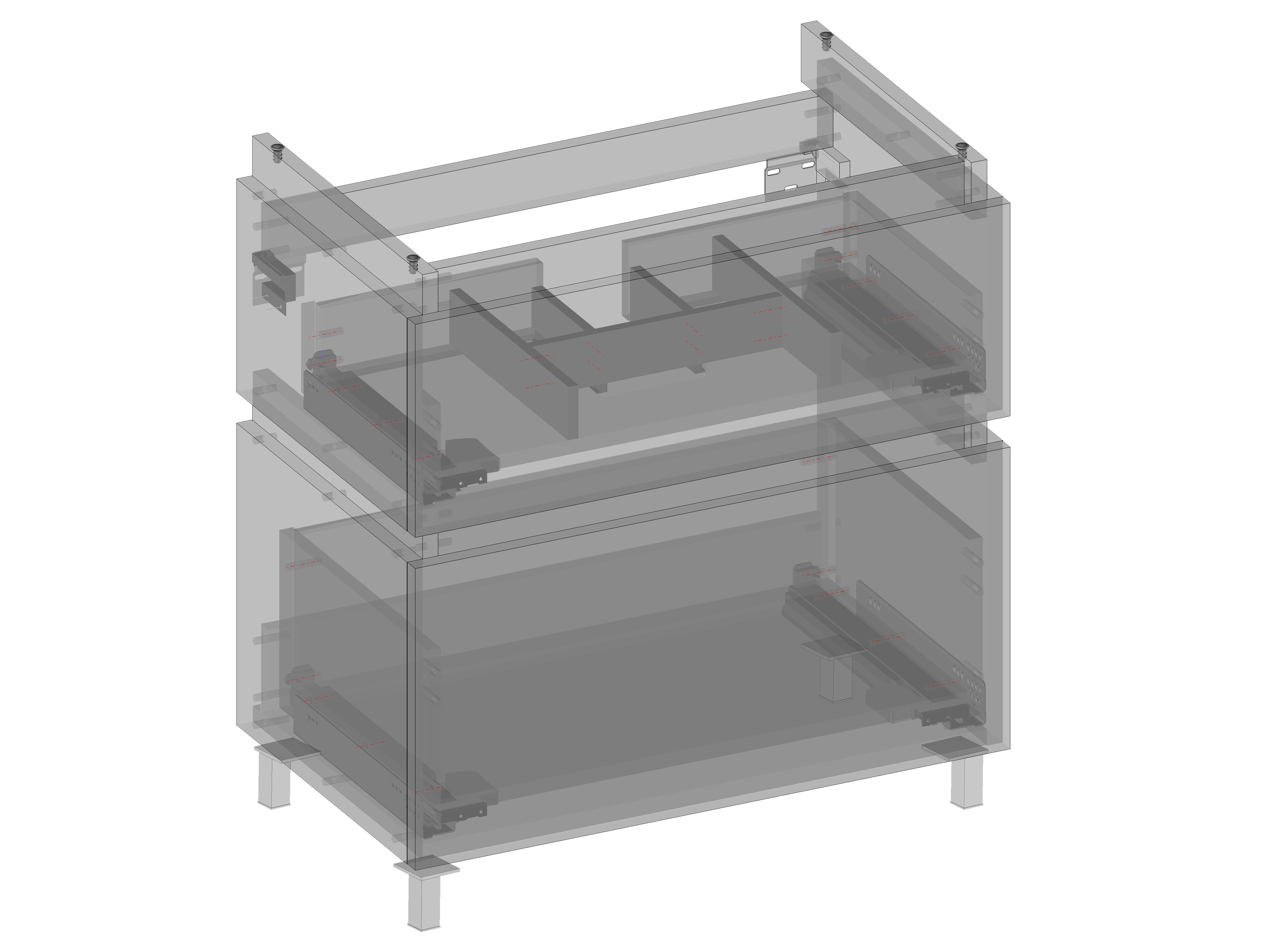 Szafka pod umywalkę Daphne (do postawienia) dwie szuflady, wbudowany organizer w górnej szufladzie