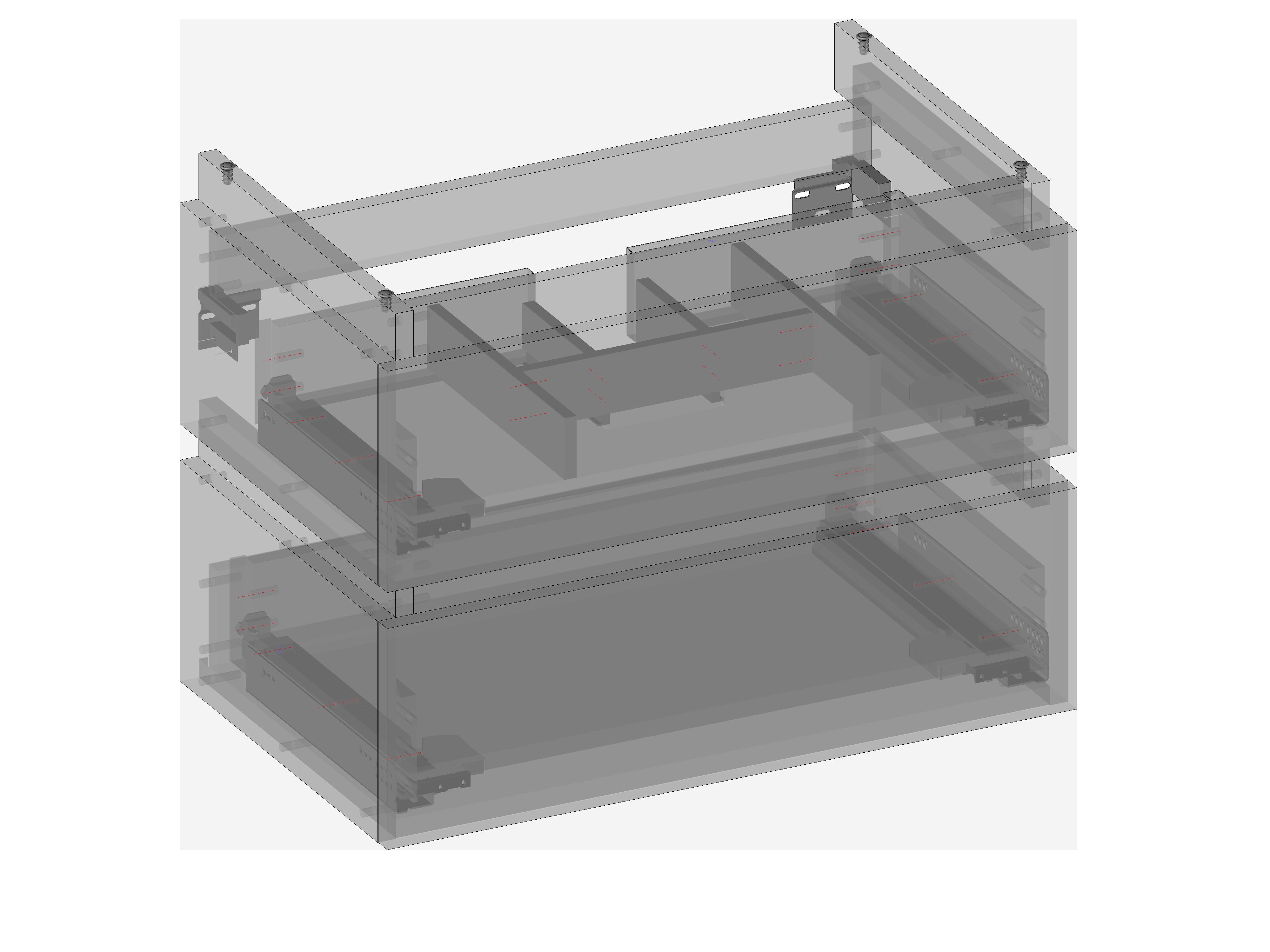 Szafka pod umywalkę Daphne wisząca, dwie szuflady, wbudowany organizer w górnej szufladzie