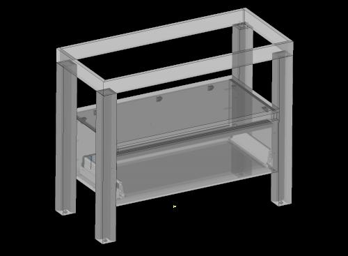 Cabinet for washbasin Cortona standing, one drawer