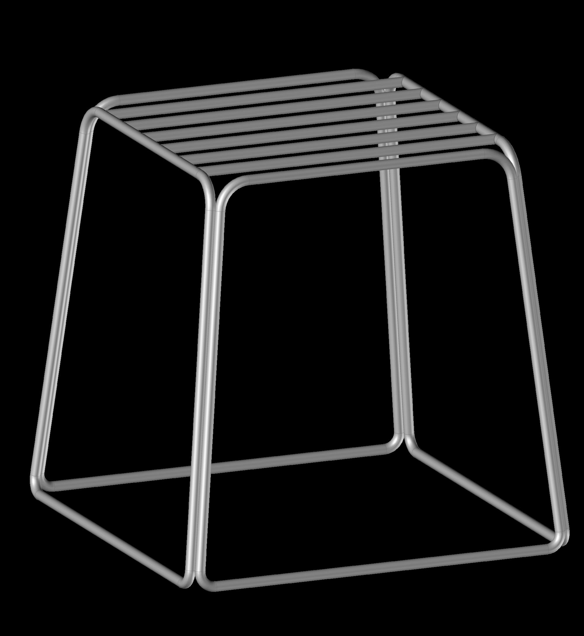 Stołek, stojąca, metalowa